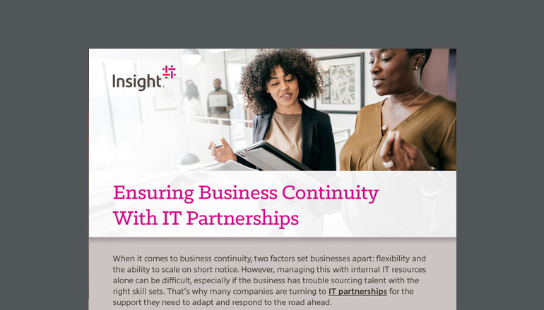 Ensuring Business Continuity With IT Partnerships cover image