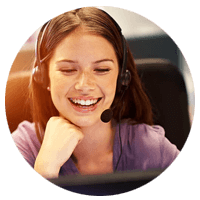 IT Support desk representative talking with client. Call center, end-user ticket requests