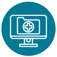 Accessing medical records remotely icon
