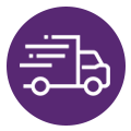 Expedited depot truck icon