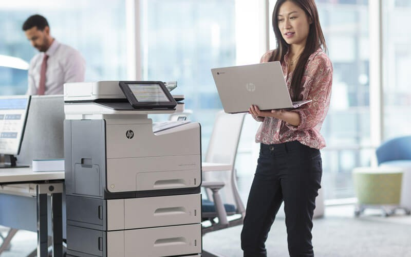 HP PageWide printer in office lifestyle