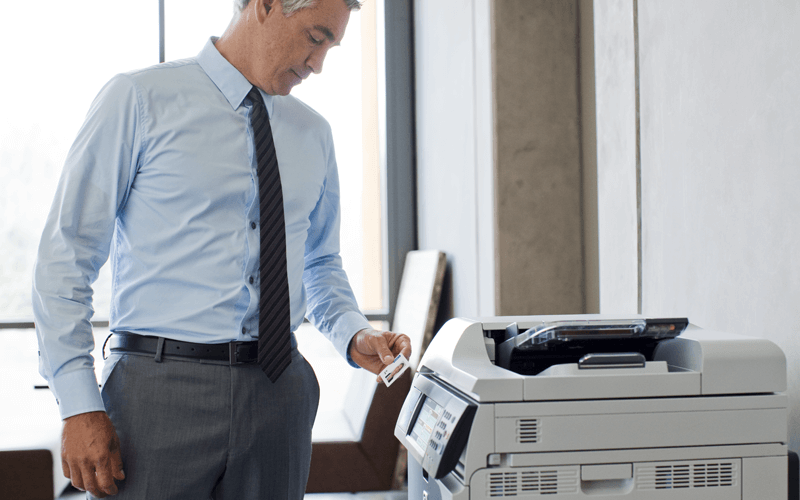 HP printer secure device
